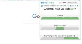 Freezetab, extensión de Google Chrome para gestionar favoritos