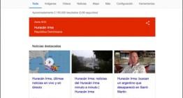 Google activa las alertas SOS por el huracán Irma