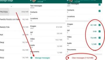 WhatApps para Android ahora permite gestionar el espacio de almacenamiento
