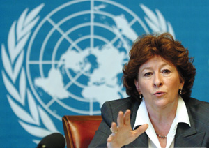 Former Supreme Court of Canada Justice Louise Arbour was appointed UN High Commissioner for Human Rights in 2004. Photo CP (Martial Trezzini)