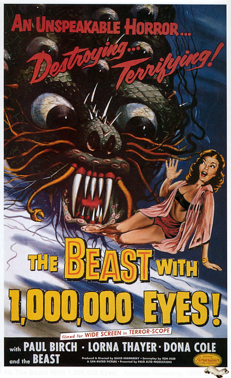 Actually...our blog is now the beast with 2,000,000 eyes, but hey...this poster is rad.