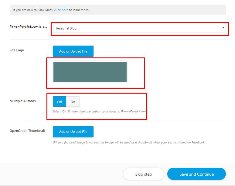 blog settings in rank math
