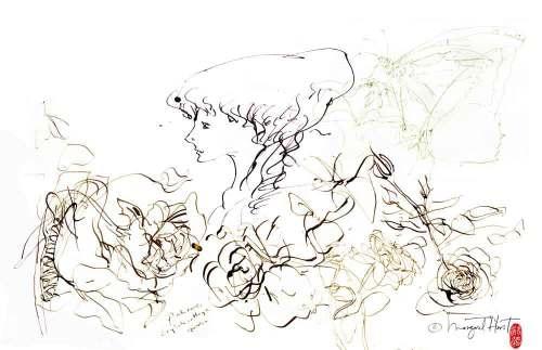 ROSESLADY-BUTTERFLIES