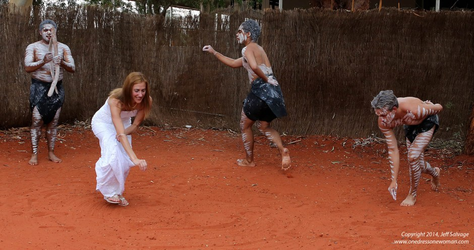 Dancing at Sails in the Desert - Uluru, Australia