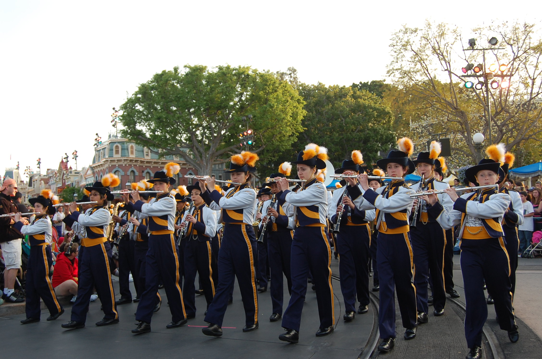 Wells Middle School Bands March Into Disneyland