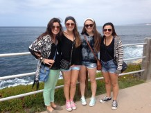 Jenny in La Jolla with Dublin High Friends (incl Rebecca Beasley and Tatum Wheeler)