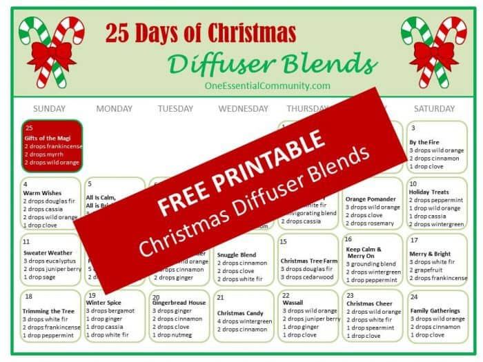 Love that this has many of my favorite Christmas diffuser blends all in one place- Gingerbread Man, Candy Cane Surprise, Holiday Joy, Christmas Tree Forest, All Is Calm, and many more of my favorites! #essentialoils #essentialoilrecipes #diffuserblends #diffuserrecipes #essentialoilsforChristmas #Christmasdiffuserblends #essentialoilDIY #essentialoilrecipesforChristmas