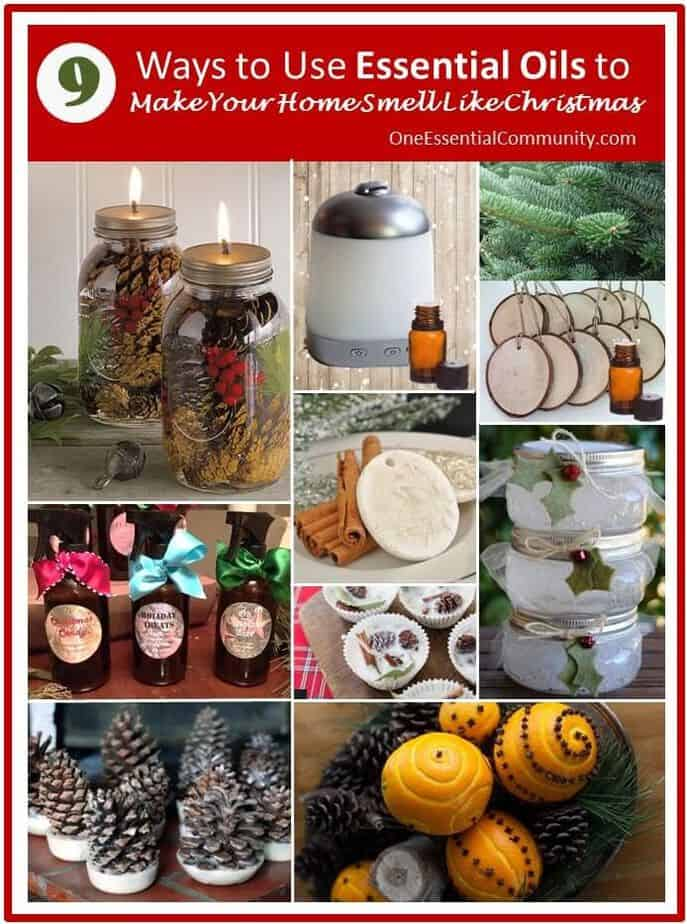 9 Ways to Use Essential Oils to Make Your Home Smell Like Christmas- Christmas diffuser blends, ornaments, Christmas room sprays, fire starters, scented pinecones, pomanders, essential oil gel air fresheners, and more. essential oil recipes, essential oil DIY, CHristmas essential oil, essential oil gifts, doTERRA, Young living