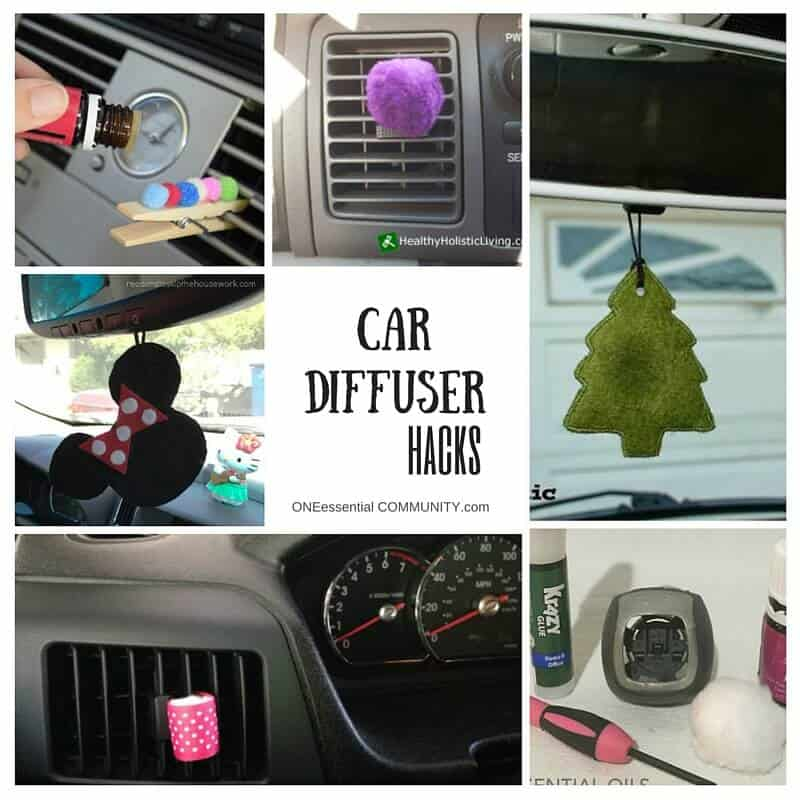 DIY car diffuser hacks-- easy ways to diffuse essential oil in your car