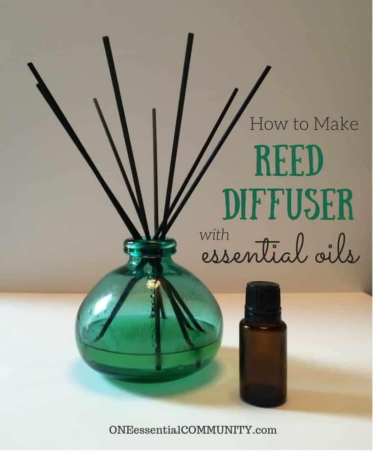 How to Make a DIY Reed Diffuser with Essential Oils-- Reed diffusers are great for small spaces and rooms where you may not have easy access to a wall outlet. They're perfect for bathrooms, foyers, and closets!