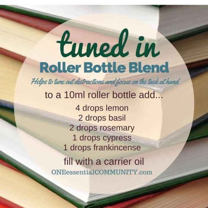 """tuned in"" roller bottle blend helps to tune out distractions and focus on the task at hand-- LOVE this!! amazing find! there are tons of great roller bottle blends {and FREE super cute labels} for all kinds of emotions-- calm, focus, grounding, balance, gratitude, happy, energy, comfort, motivation, courage, confidence, cheer, creativity, and more!!"