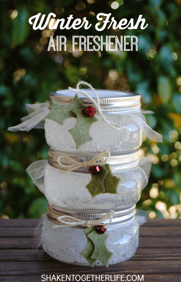 homemade gel air fresheners for Christmas made with essential oils