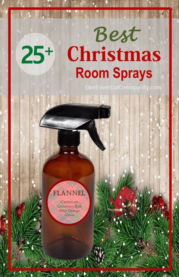 25+ best Christmas room sprays made with essential oils