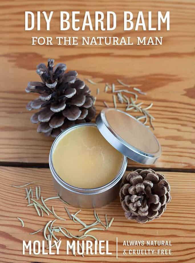 DIY beard balm made with essential oils