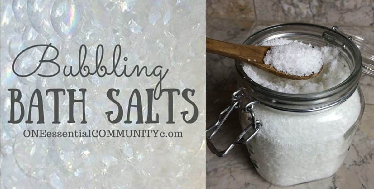 bubbling bath salts made with essential oils