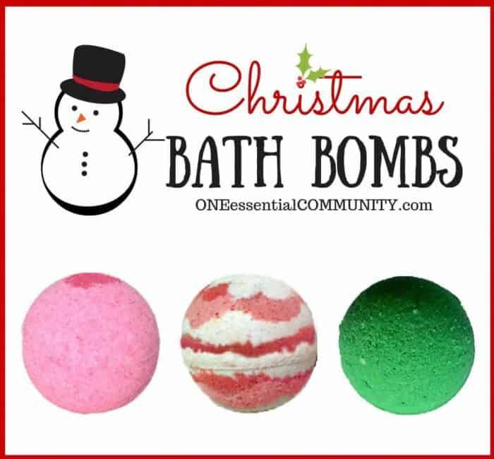 Christmas bath bomb recipes {made with essential oils}