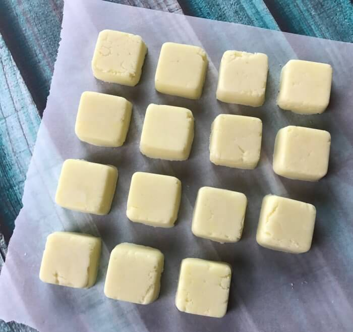 These DIY bath melts are loaded with decadent butters and good-for-your-skin essential oils. Plus they smell amazing! click for the recipe and step-by-step instructions to make these super moisturizing, skin softening, and great-smelling bath melts.