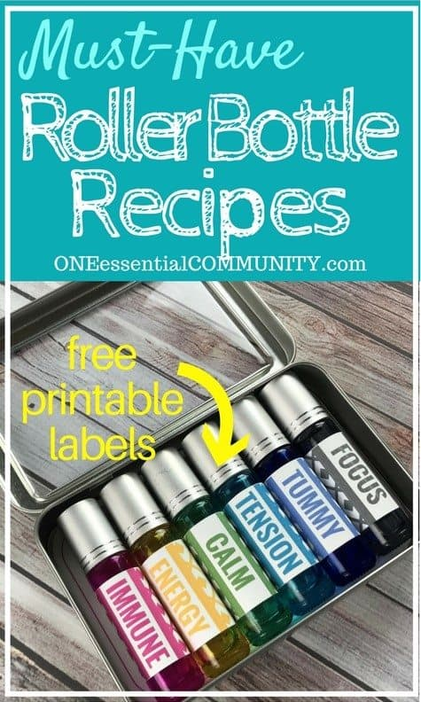 photograph about Free Printable Labels for Bottles named Roller Bottle Recipes No cost Printable Labels - Just one