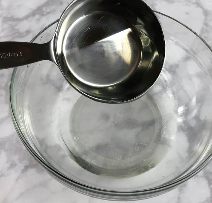 Homemadedish soap with the cleaning power of essential oils. Makes lots and lots of bubbles, cuts through grease, rinses well (even in hard water), gets dishes, silverware, and even glasses squeaky clean and sparkling. And it smells great!