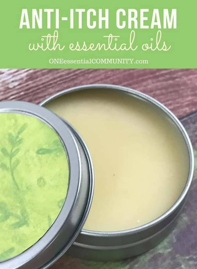 anti-itch cream with essential oils -- and jar of the cream