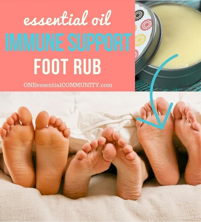 Boost your immune system and stay healthy with this essential oil immune support foot rub recipe. Fight colds, coughs, and other bugs. essential oil recipe, essential oil DIY, essential oil immune support, doTERRA, Young Living, essential oils for colds, essential oils for flu
