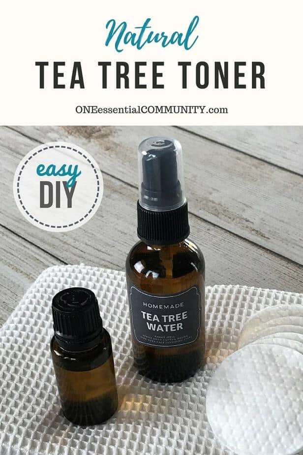 Essential oil toner for acne controls excess oil, shrinks appearance of pores, soothes skin, and reduces redness. {pimples, zits, whiteheads, blackheads, inflamed skin}  essential oil recipe, essential oil DIY, natural skincare, homemade toner, doTERRA, Young Living