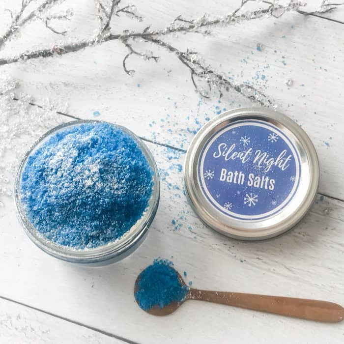 Silent Night bath salts made with essential oils {great for getting a good nights sleep}