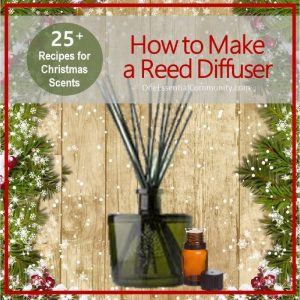 Have you made an essential oil reed diffuser yet? ? They are super simple (and inexpensive) to make! They'd make great Christmas gifts!! ? This post not only shows you how to make an essential oil reed diffuser, but it also gives 25+ recipes of Christmas scents! essential oil recipe, essential oil DIY, essential oil diffuser blend recipes, doTERRA, Young Living, essential oil gifts
