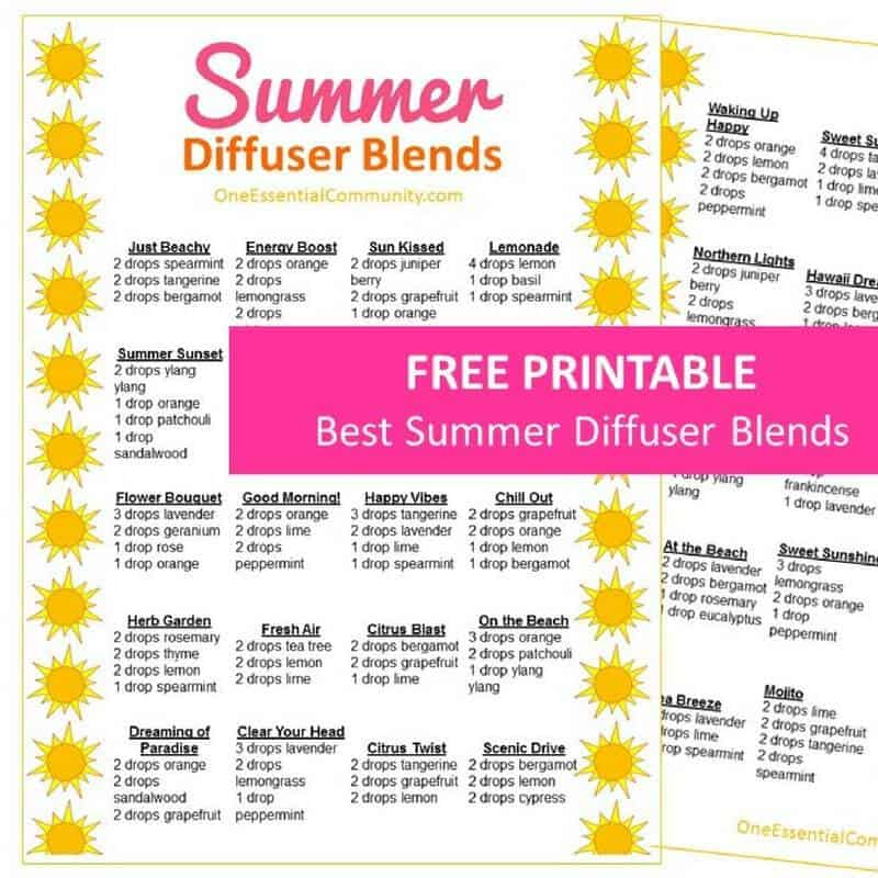 25 Of The Best Summer Essential Oil Diffuser Recipes With Free Printable One Essential Community