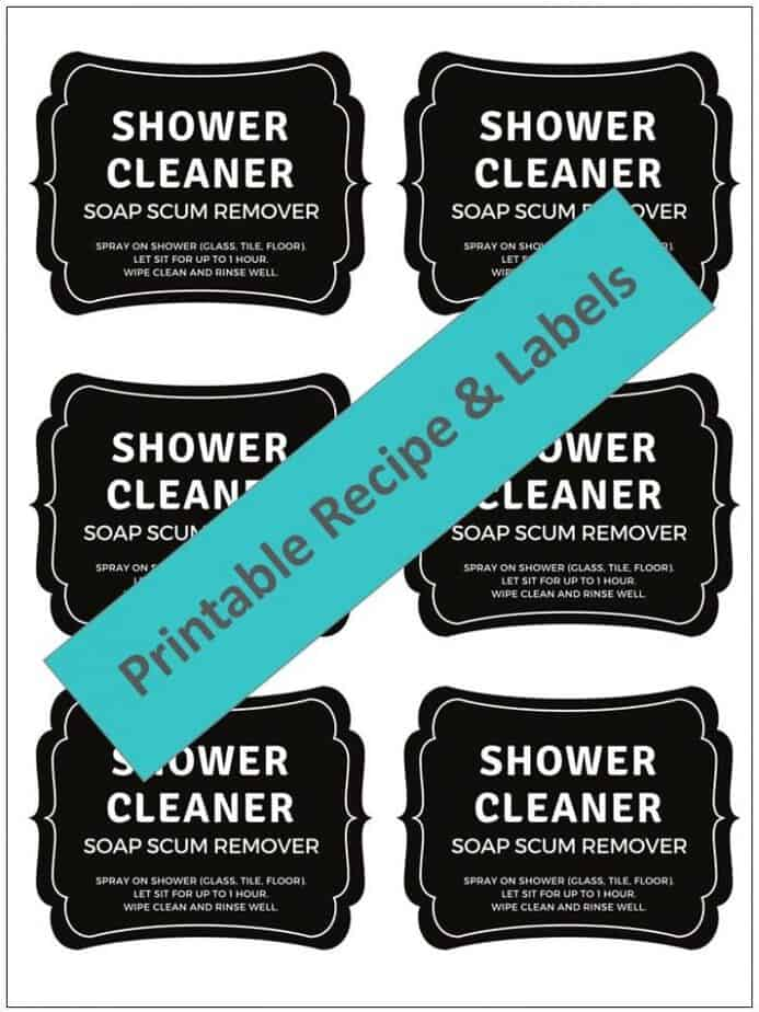 Magic homemade shower cleaner shines, cleans, and disinfects tubs, tile, and glass shower doors with practically no scrubbing to get rid of soap scum, hard water stains, dirt, grease, grime, mold & mildew. Just 3 ingredients (Dawn, vinegar, and essential oils) makes shower clean, shiny, and sparkly! {essential oil cleaner, essential oil shower cleaner, essential oil shpwer spray} #essentialoilrecipes #DIYcleaning #essentialoilcleaning #DIYessentialoil