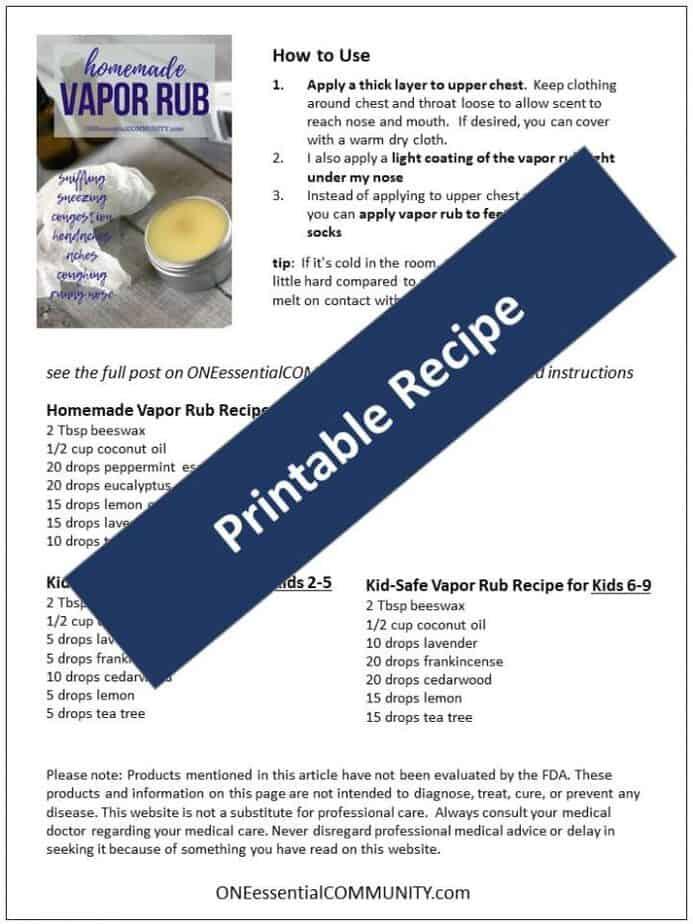 How to Make Vapor Rub with Essential Oils - One Essential