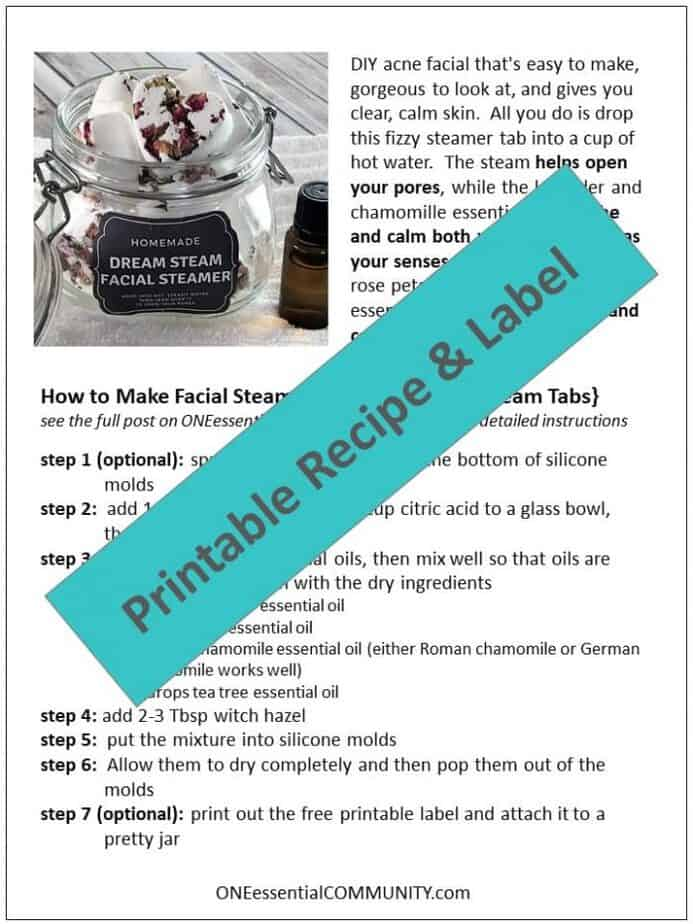 Lush copycat DIY acne facial tabs tighten pores, clear up acne, calm skin, & alleviate redness. naturally gentle & made with essential oils. DIY acne treatment, essential oil recipe, essential oils for acne, homemade facial, DIY facial, DIY essential oil, doTERRA, Young Living