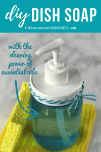DIY dish soap recipe with the cleaning power of essential oils by ONEessentialCOMMUNITY.com
