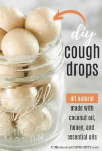 cough drops in a glass mason jar
