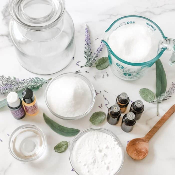 supplies to make vapor bath soak for congestion and colds