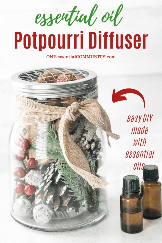 title image for essential oil potpourri diffuser