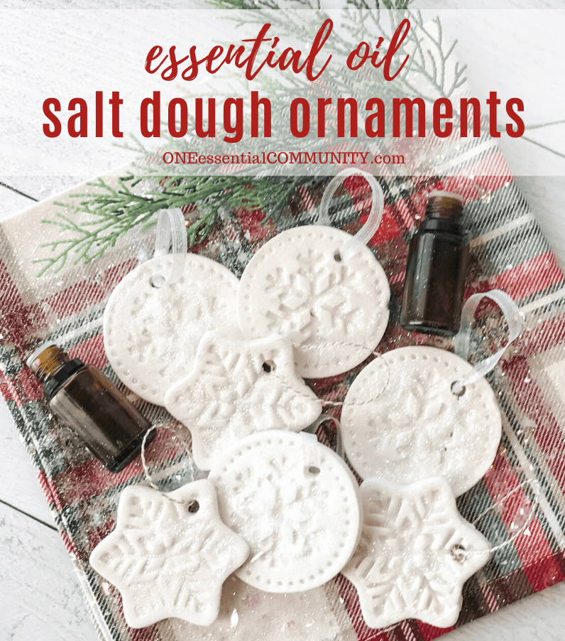 Essential oil salt dough ornaments title image