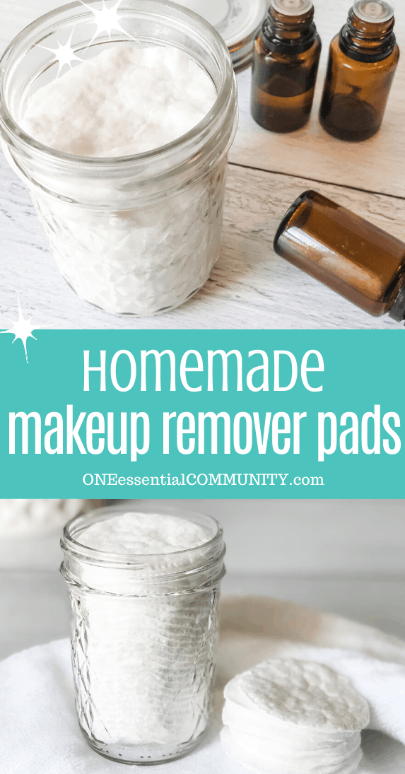 homemade makeup remover pads with essential oils DIY face wash pads all natural