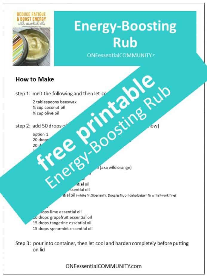 link to energy boosting rub printable