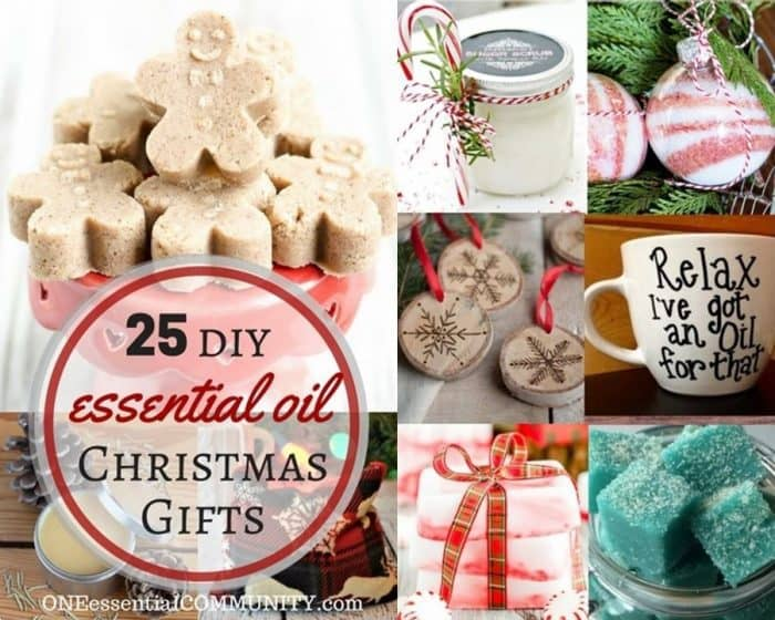 25 DIY essential oil Christmas gifts