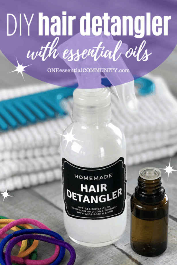 DIY hair detangler with essential oils