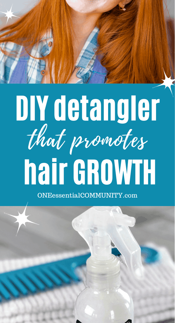 homemade hair detangler spray to promotes hair growth