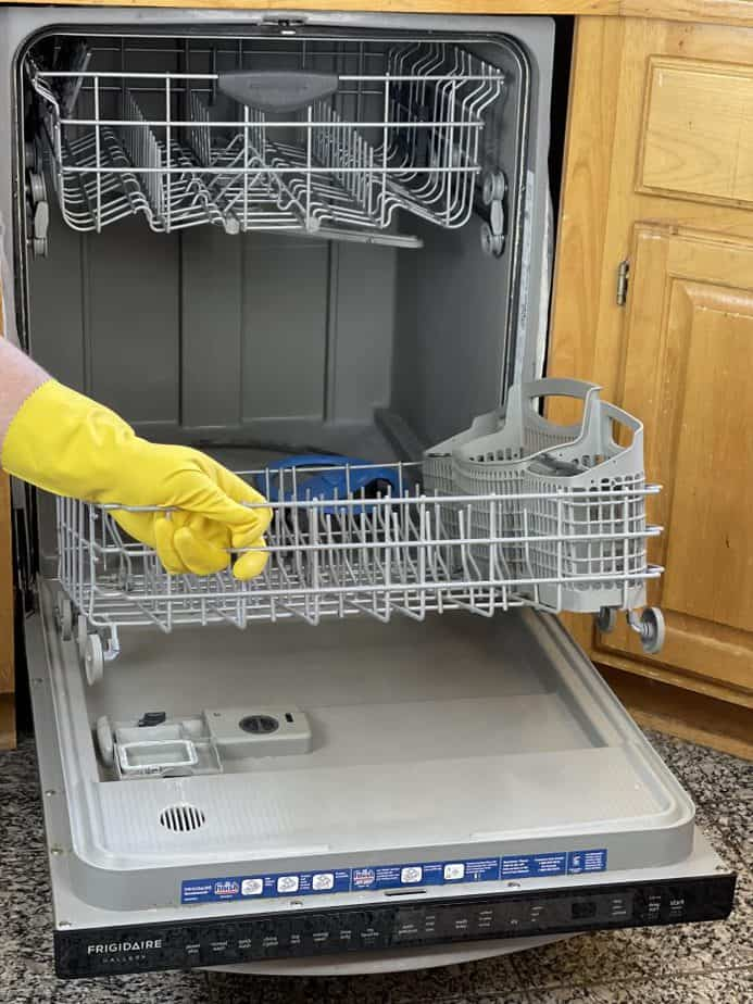 removing bottom rack from dishwasher