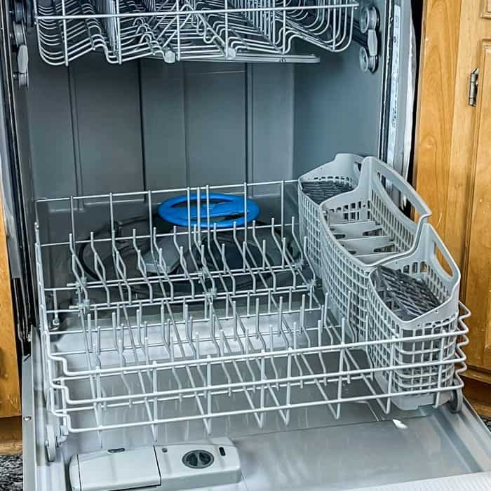 the inside of dishwasher after it has been cleaned