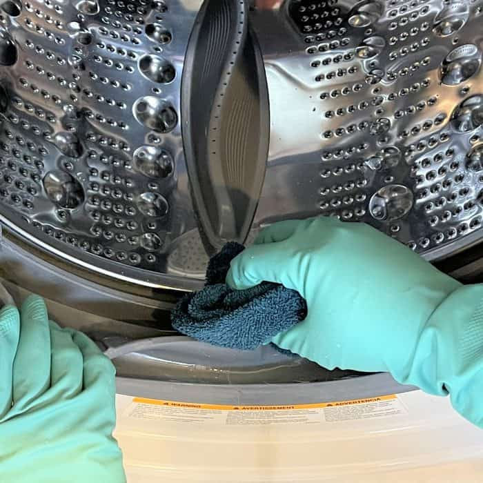 cleaning washing machine seal (aka gasket) of front loader