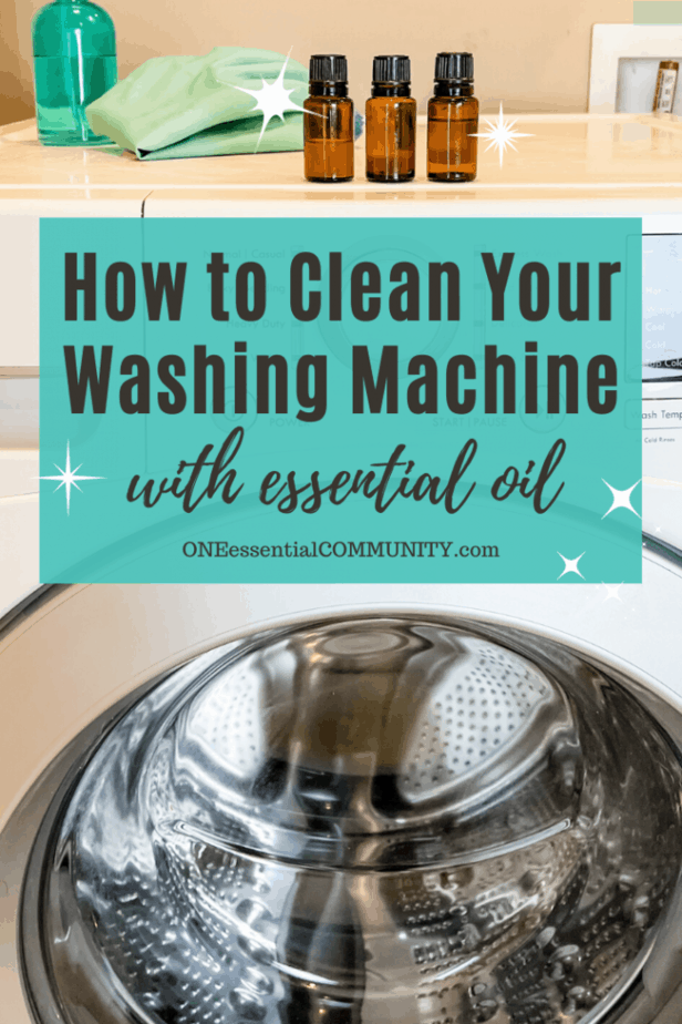 3 bottles of essential oil on top of washing machine