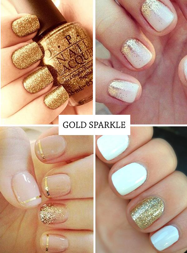 Gold Nail Polish Onefabday
