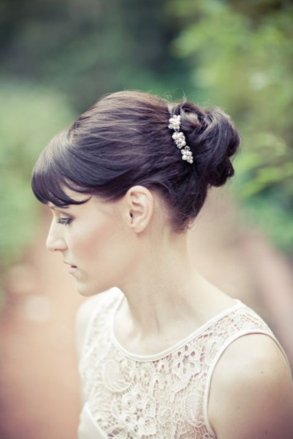 Image Result For Wedding Hairstyles With A Fringe