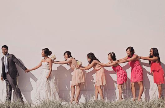 Rózsaszín,ombre koszorúslány ruha /Pink ombre bridesmaid dresses