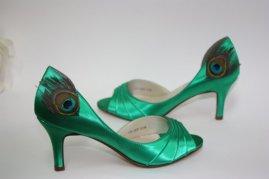 Pávatollas cipő, Peacock Shoe Forrás:http://www.etsy.com